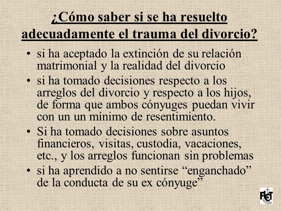 ¿Cómo saber si se ha resuelto adecuadamente el trauma del divorcio