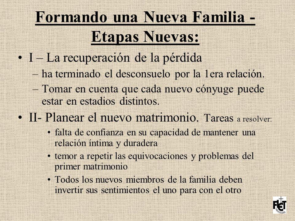 Formando una Nueva Familia - Etapas Nuevas: