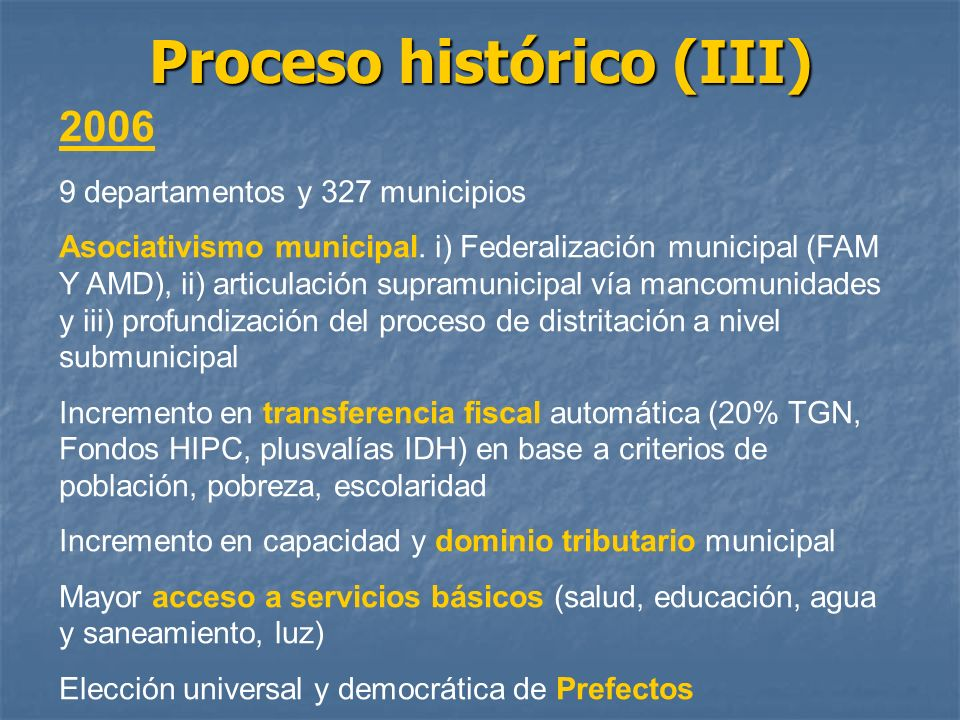 Proceso histórico (III)