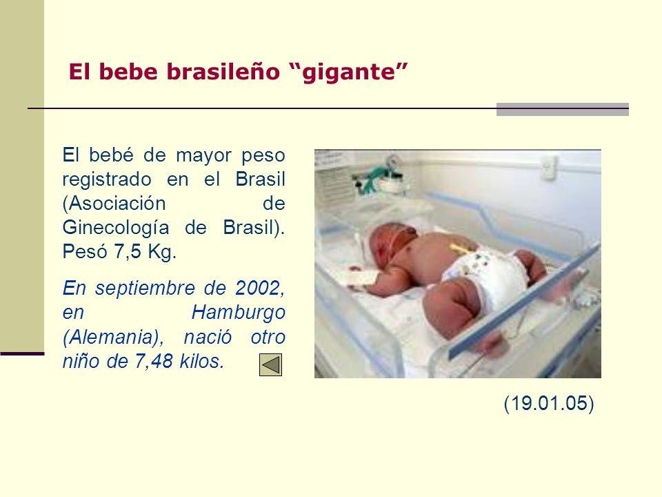 El bebe brasileño gigante
