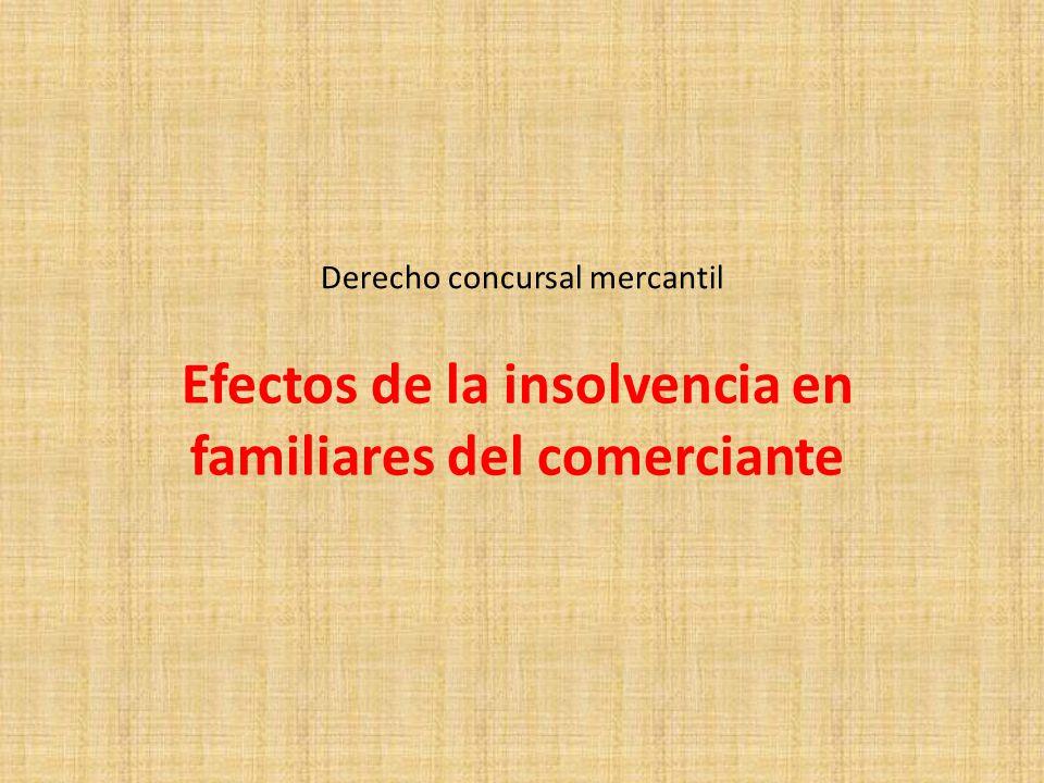 Derecho concursal mercantil