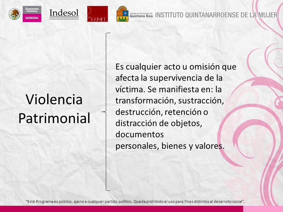 Violencia Patrimonial