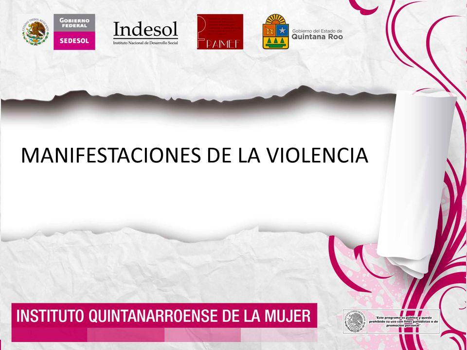 MANIFESTACIONES DE LA VIOLENCIA