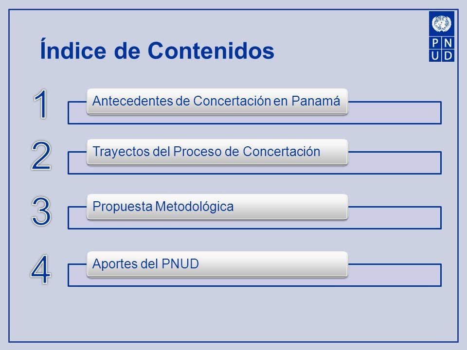 1 2 3 4 Índice de Contenidos Antecedentes de Concertación en Panamá