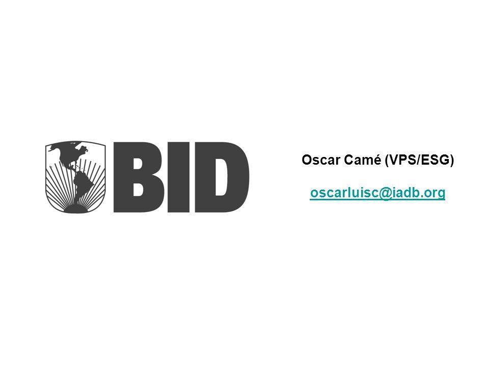 Oscar Camé (VPS/ESG) oscarluisc@iadb.org