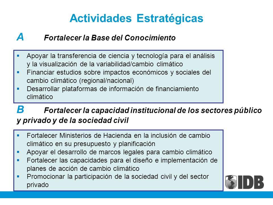 Actividades Estratégicas