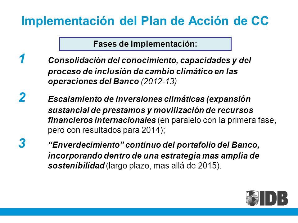 Implementación del Plan de Acción de CC
