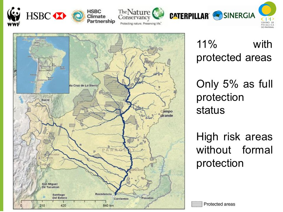 11% with protected areas Only 5% as full protection status.