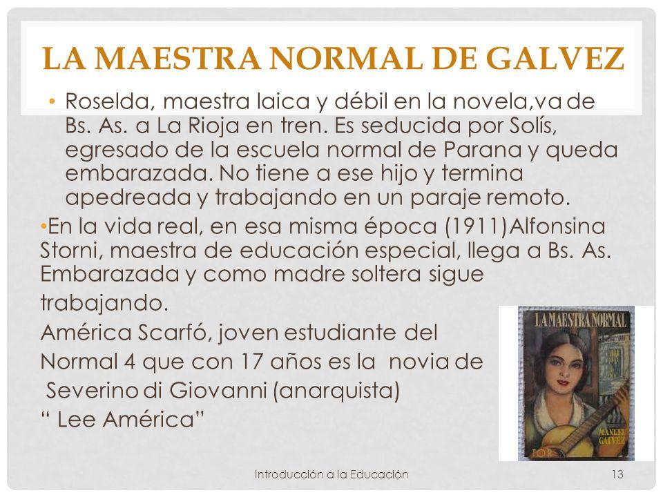 La maestra normal de Galvez