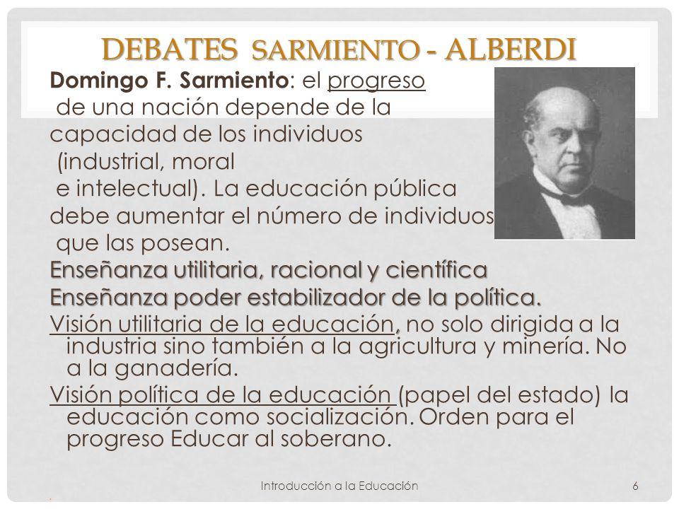 Debates Sarmiento - alberdi
