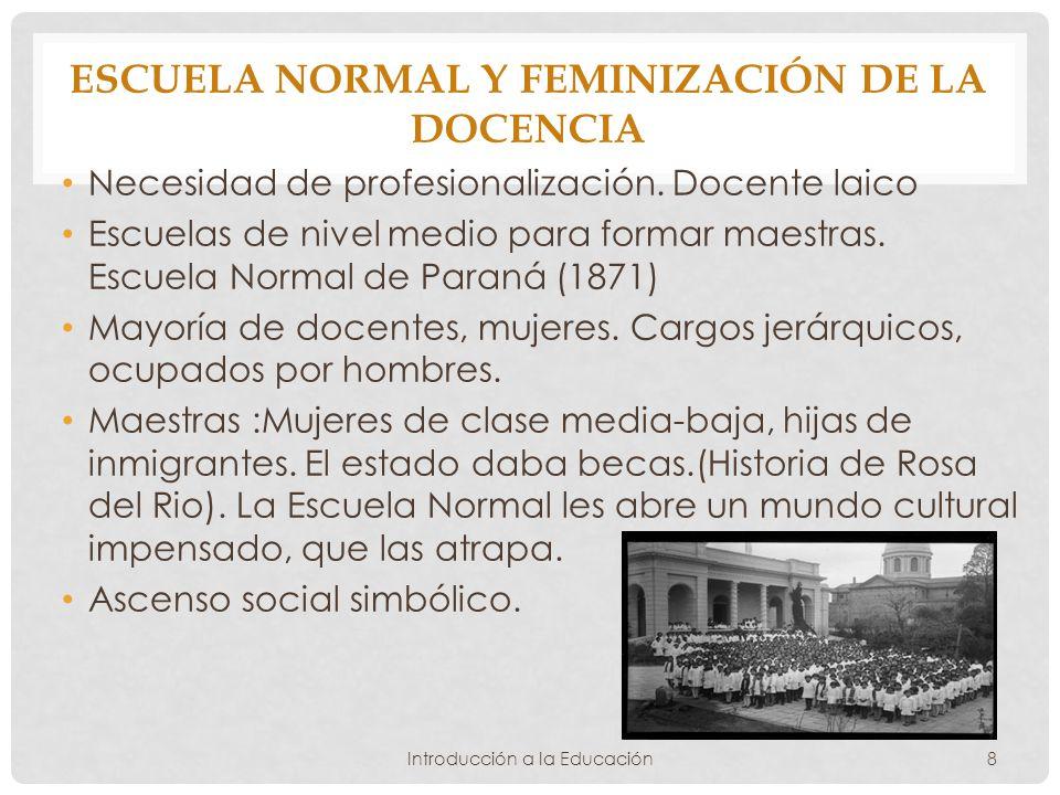 Escuela Normal y feminización de la docencia