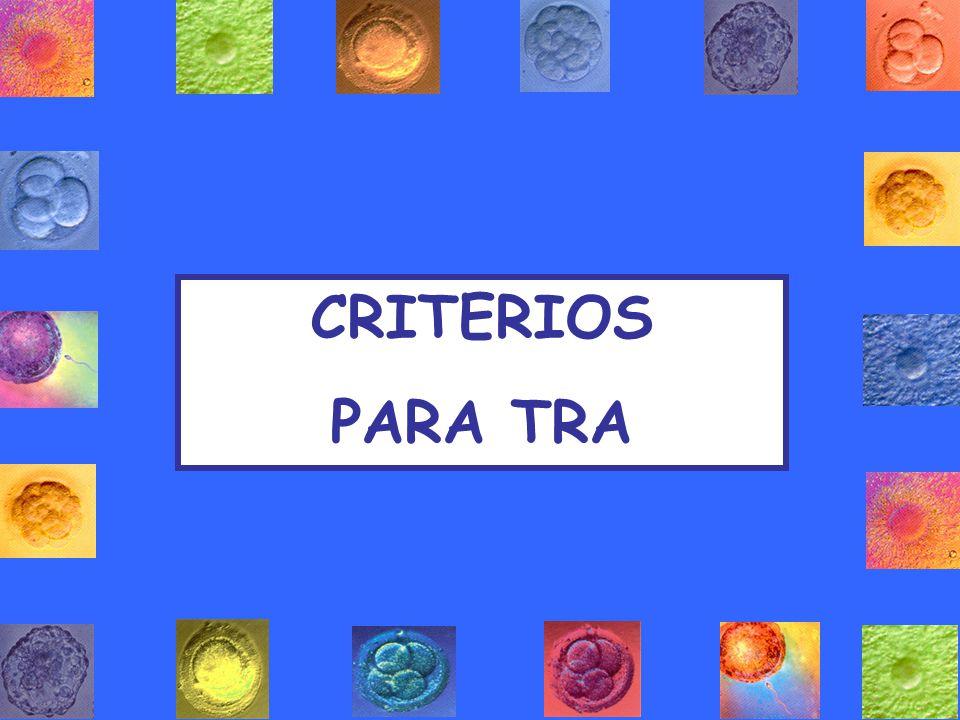CRITERIOS PARA TRA