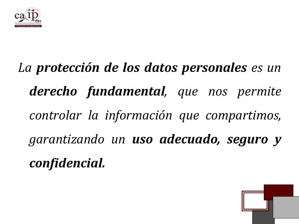 La protección de los datos personales es un derecho fundamental, que nos permite controlar la información que compartimos, garantizando un uso adecuado, seguro y confidencial.