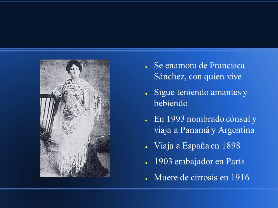 Se enamora de Francisca Sánchez, con quien vive