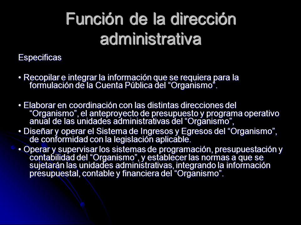 Función de la dirección administrativa
