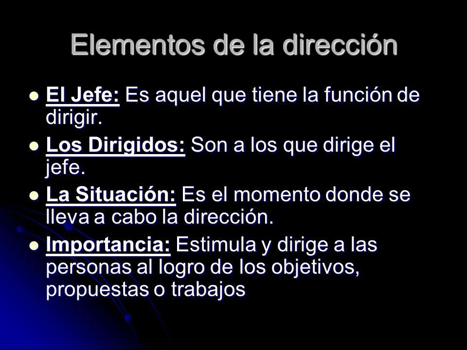 Elementos de la dirección