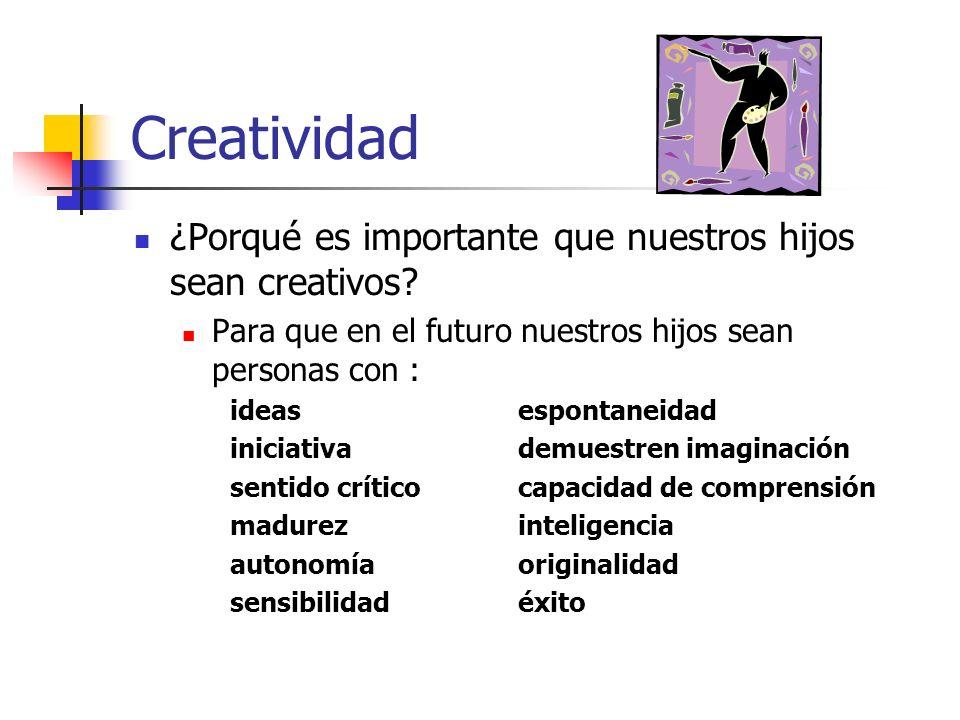 Creatividad ¿Porqué es importante que nuestros hijos sean creativos