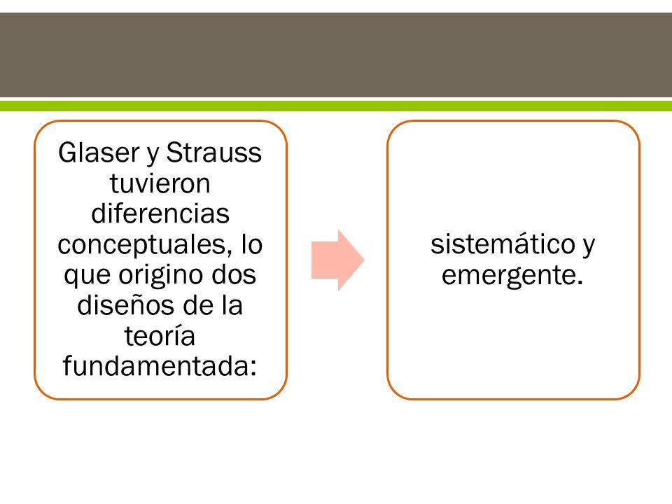 sistemático y emergente.