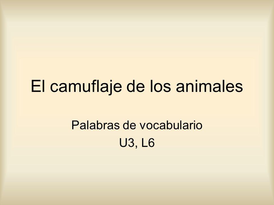 El camuflaje de los animales