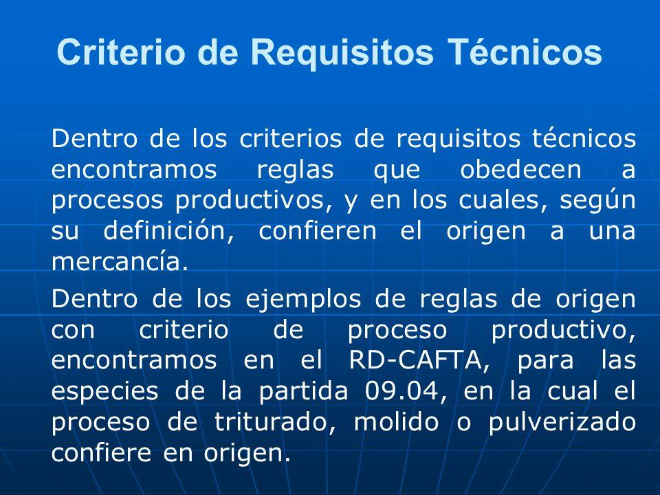 Criterio de Requisitos Técnicos