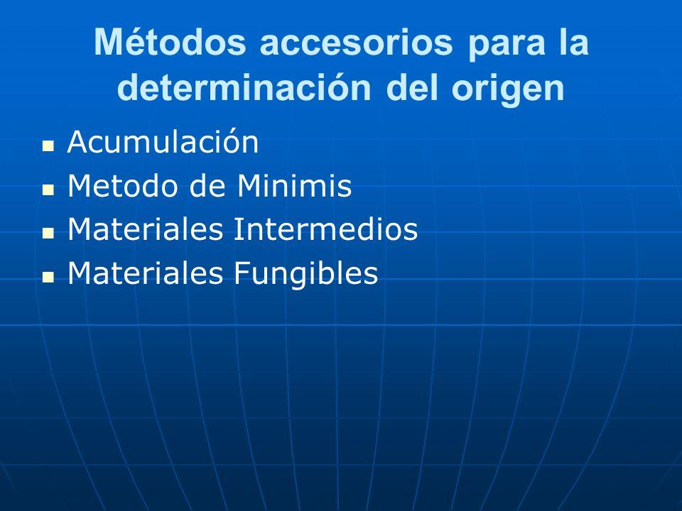 Métodos accesorios para la determinación del origen