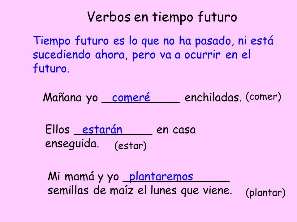 Verbos en tiempo futuro