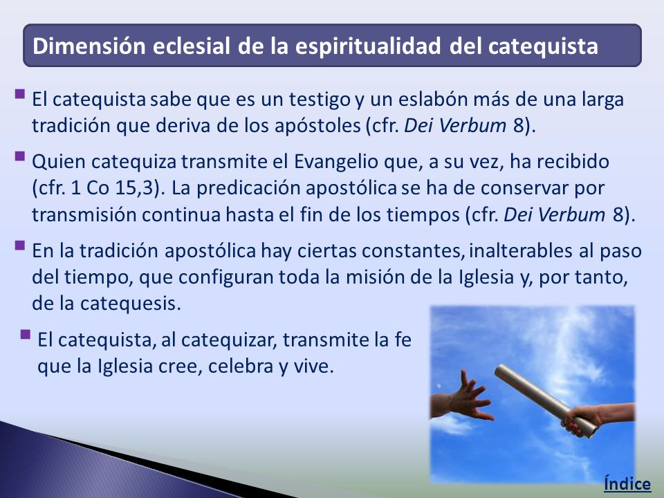 Dimensión eclesial de la espiritualidad del catequista