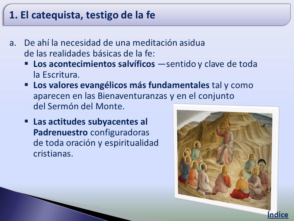 1. El catequista, testigo de la fe