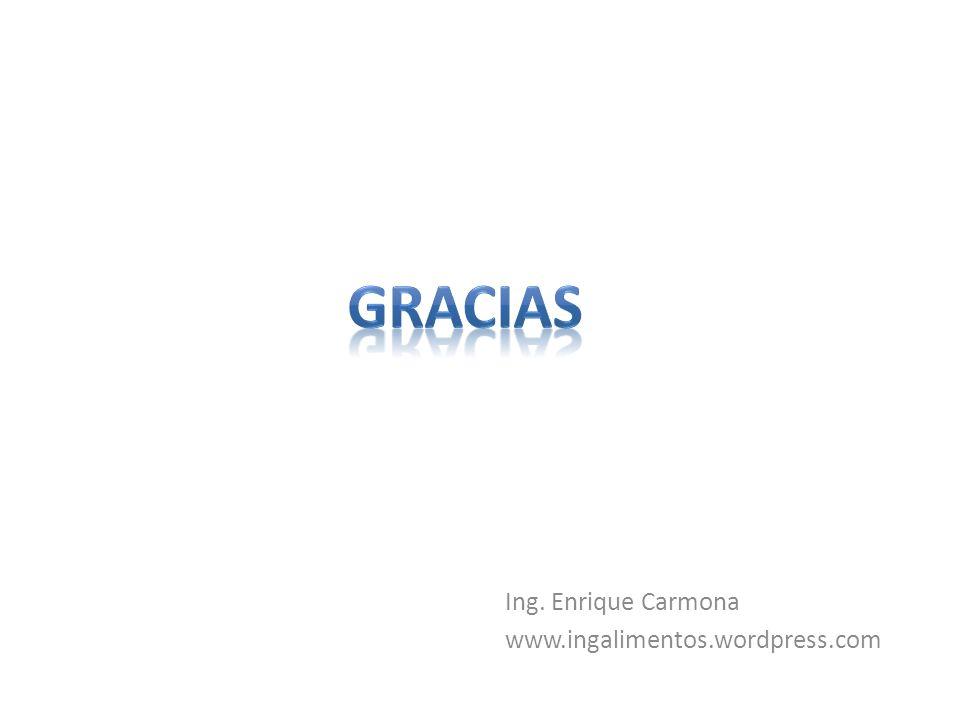 gracias Ing. Enrique Carmona www.ingalimentos.wordpress.com