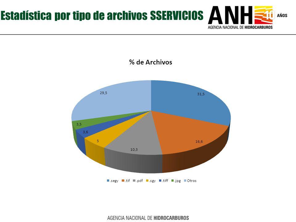 Estadística por tipo de archivos SSERVICIOS