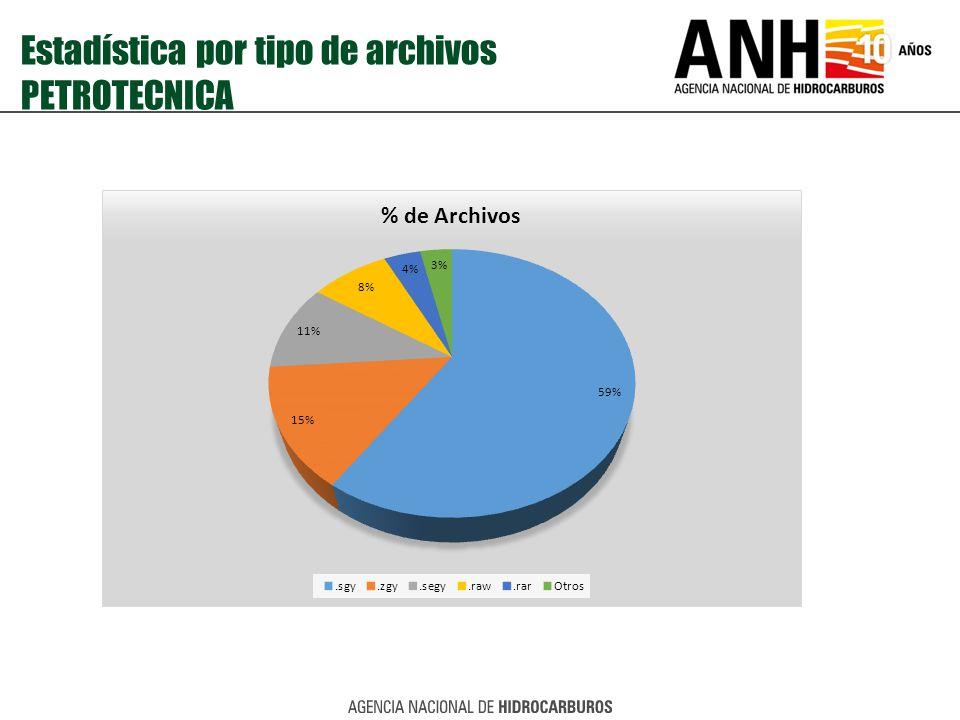 Estadística por tipo de archivos PETROTECNICA