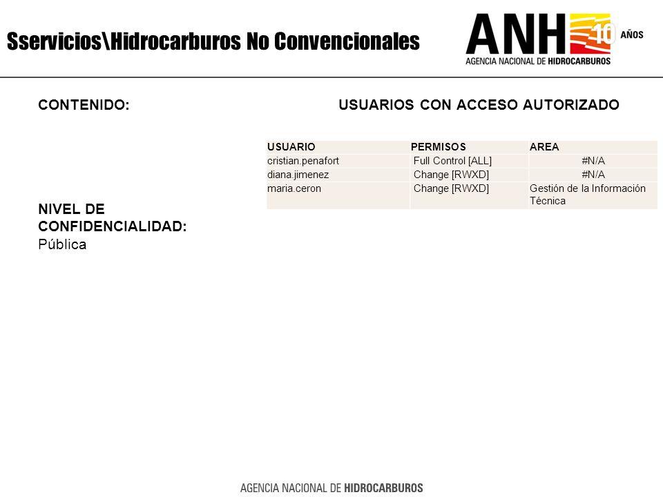 Sservicios\Hidrocarburos No Convencionales