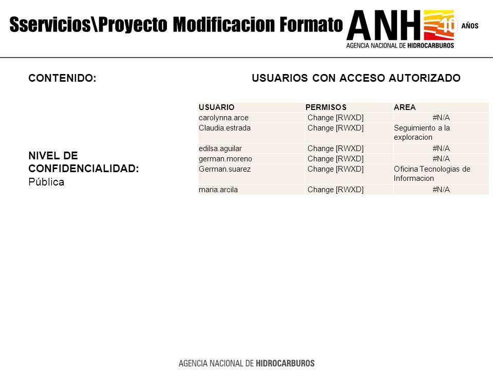 Sservicios\Proyecto Modificacion Formato