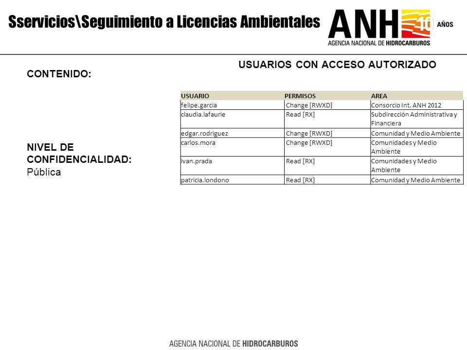 Sservicios\Seguimiento a Licencias Ambientales