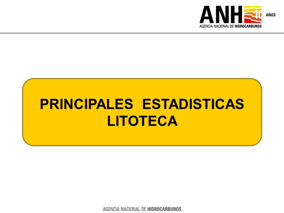 PRINCIPALES ESTADISTICAS LITOTECA