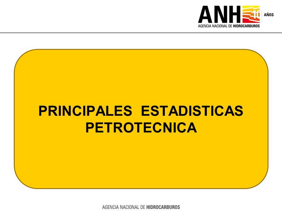 PRINCIPALES ESTADISTICAS PETROTECNICA