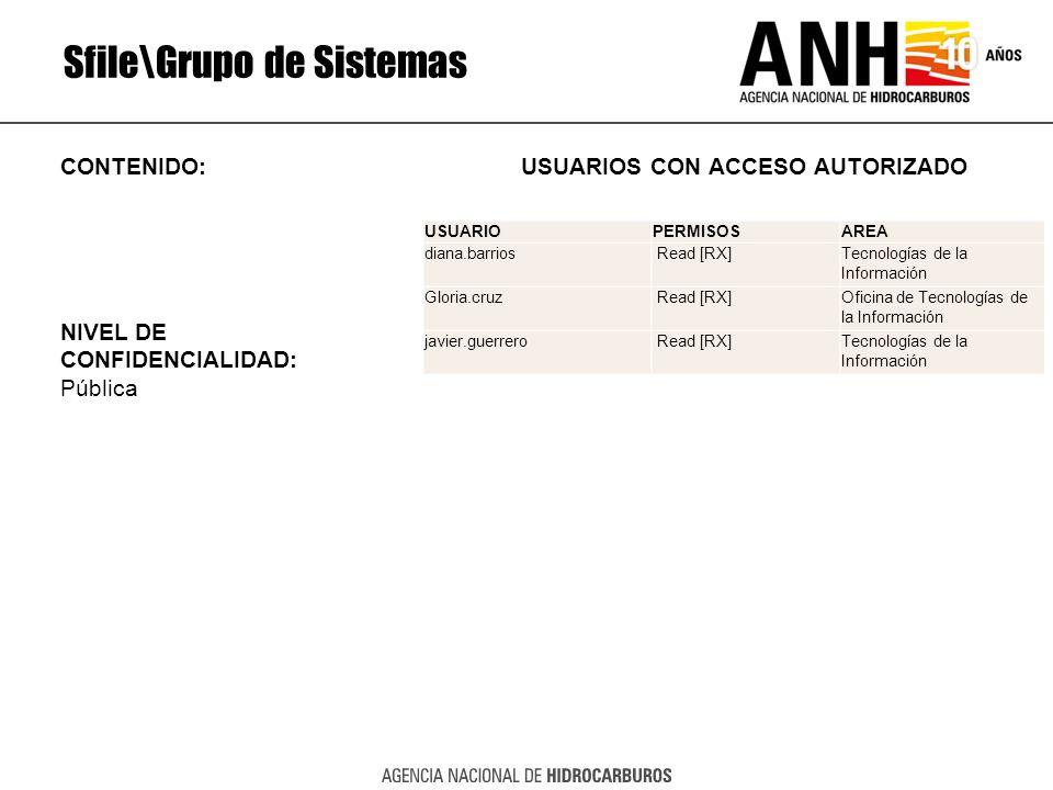Sfile\Grupo de Sistemas