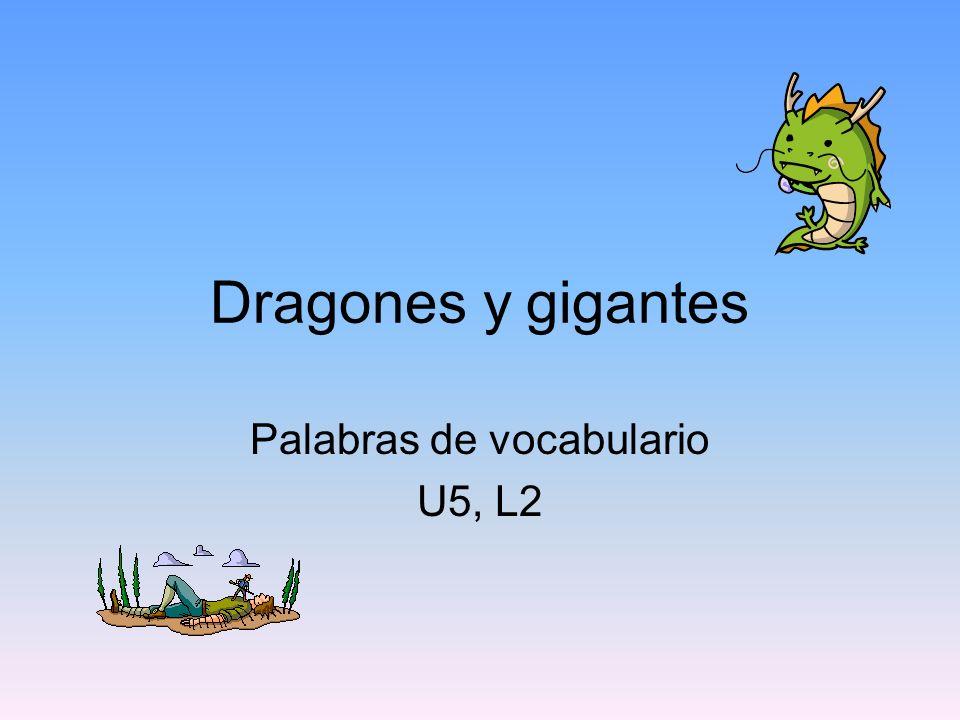 Palabras de vocabulario U5, L2
