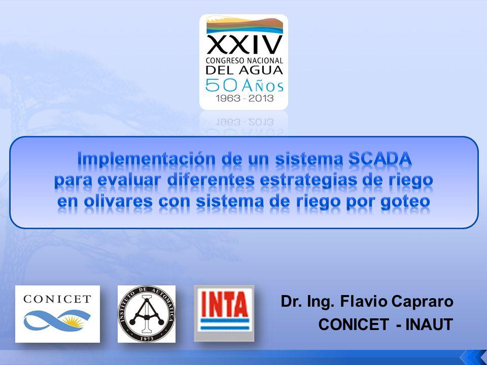 Implementación de un sistema SCADA para evaluar diferentes estrategias de riego en olivares con sistema de riego por goteo