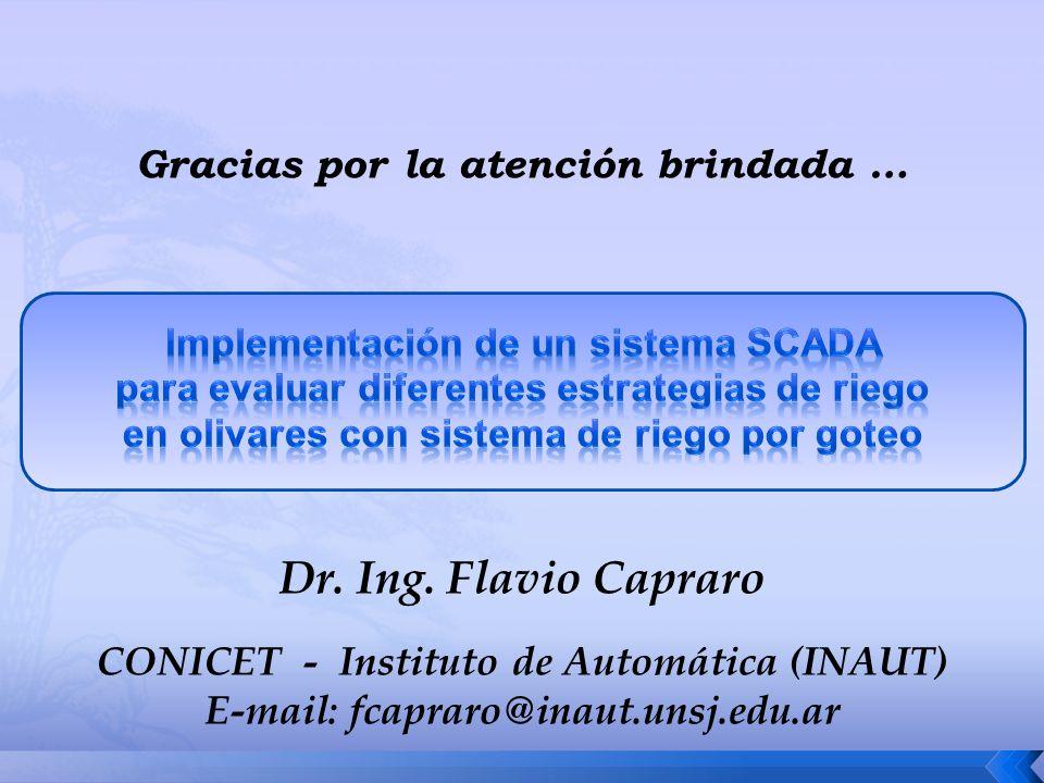 Dr. Ing. Flavio Capraro Gracias por la atención brindada …