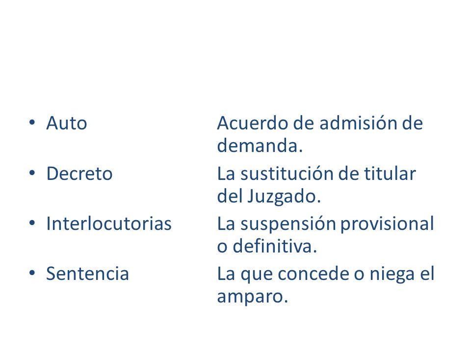 Auto Acuerdo de admisión de demanda.