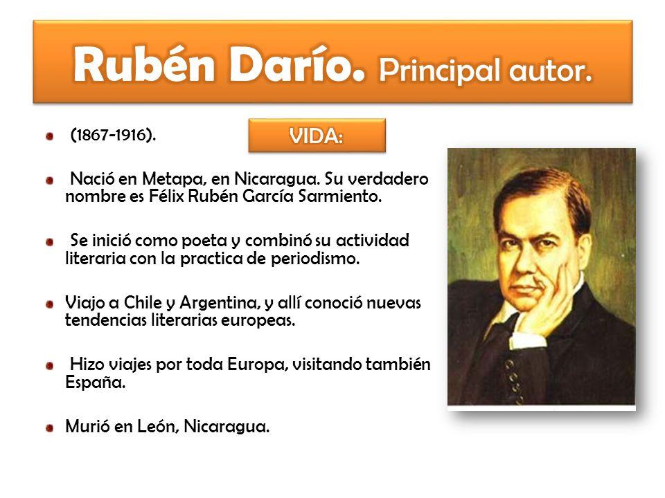 Rubén Darío. Principal autor.