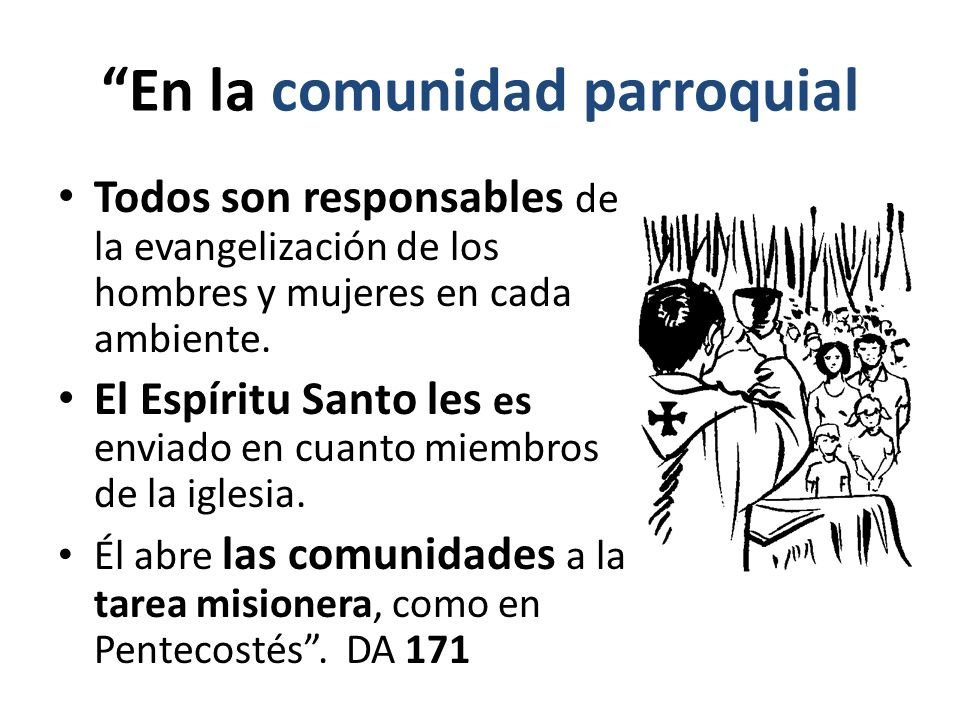 En la comunidad parroquial