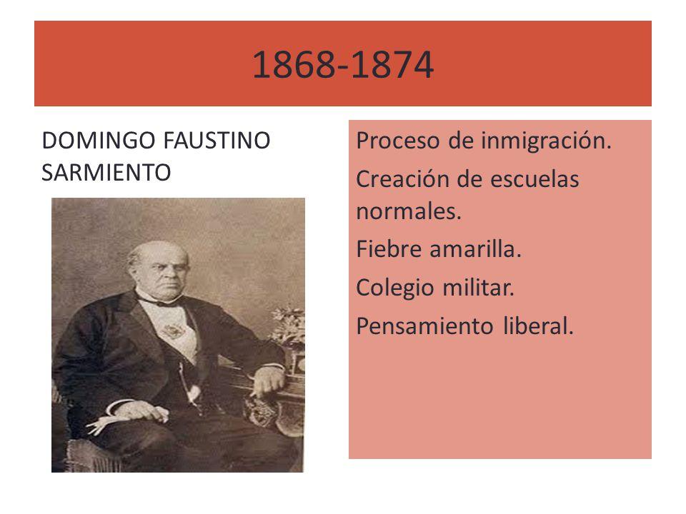 1868-1874 DOMINGO FAUSTINO SARMIENTO