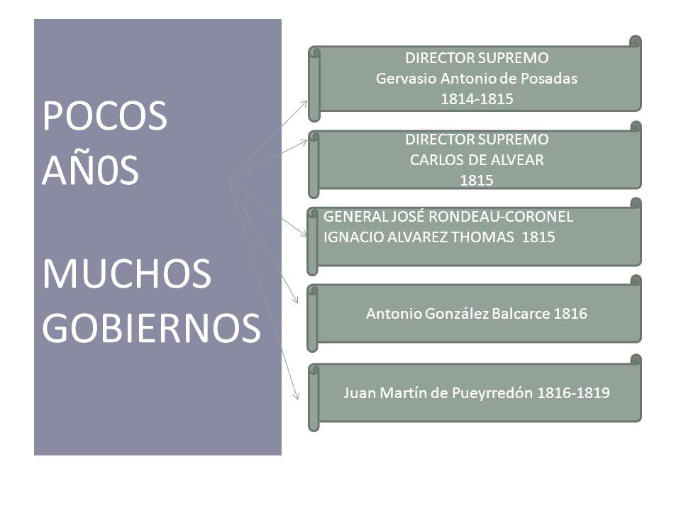 POCOS AÑ0S MUCHOS GOBIERNOS DIRECTOR SUPREMO