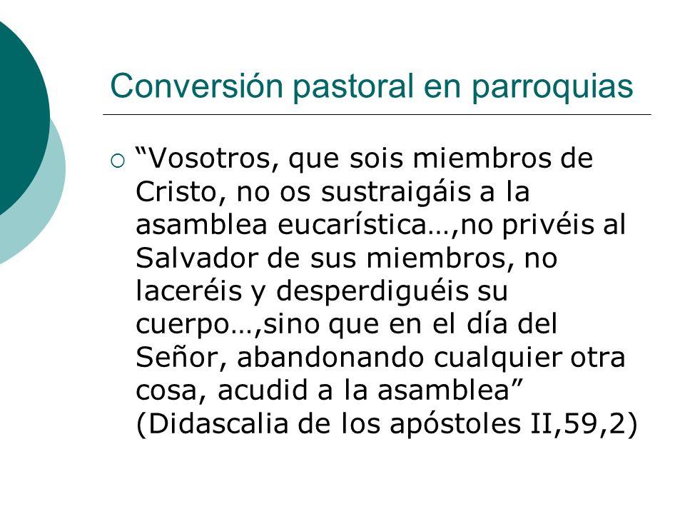 Conversión pastoral en parroquias