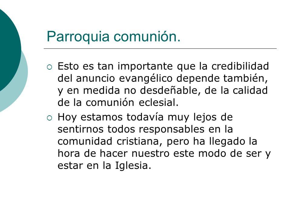 Parroquia comunión.