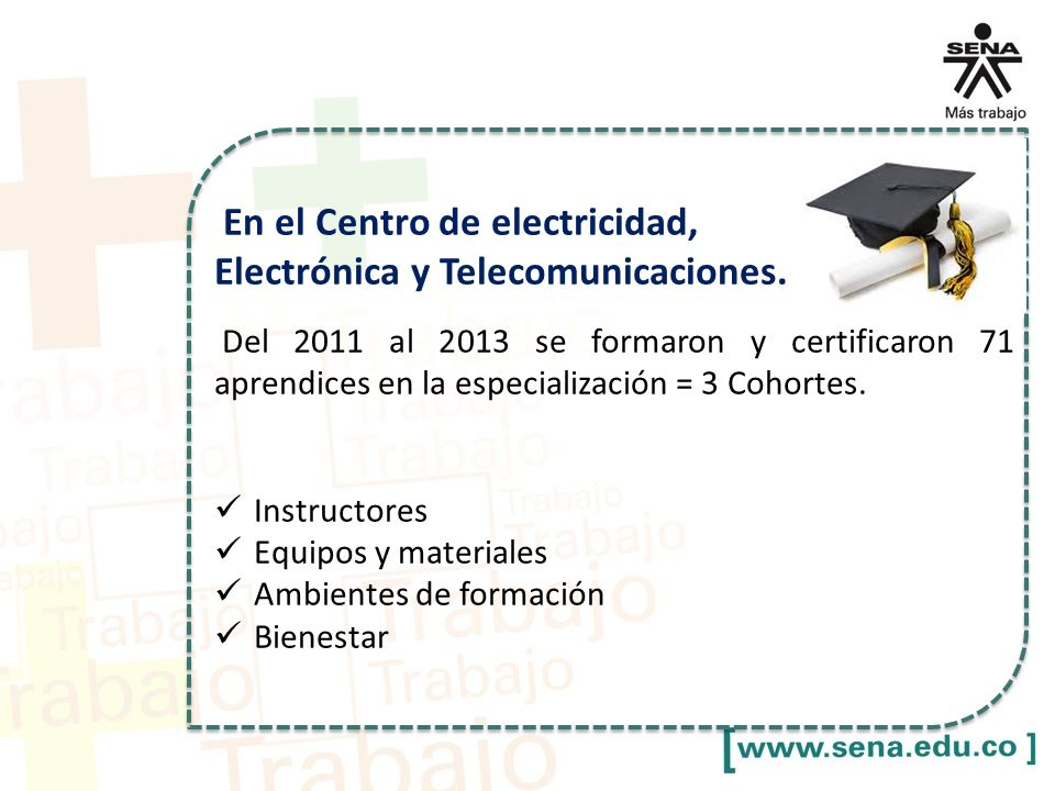 En el Centro de electricidad, Electrónica y Telecomunicaciones.