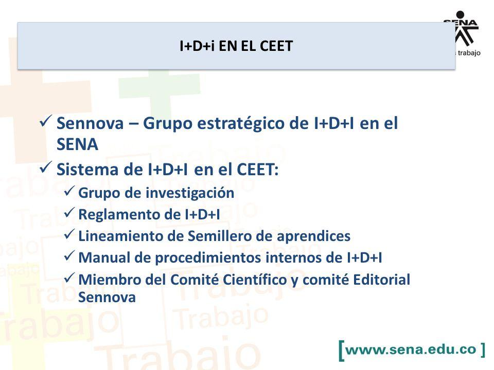 Sennova – Grupo estratégico de I+D+I en el SENA