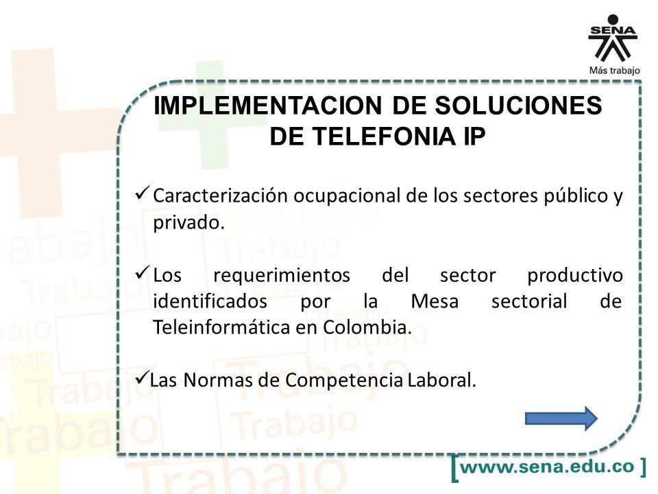 IMPLEMENTACION DE SOLUCIONES DE TELEFONIA IP